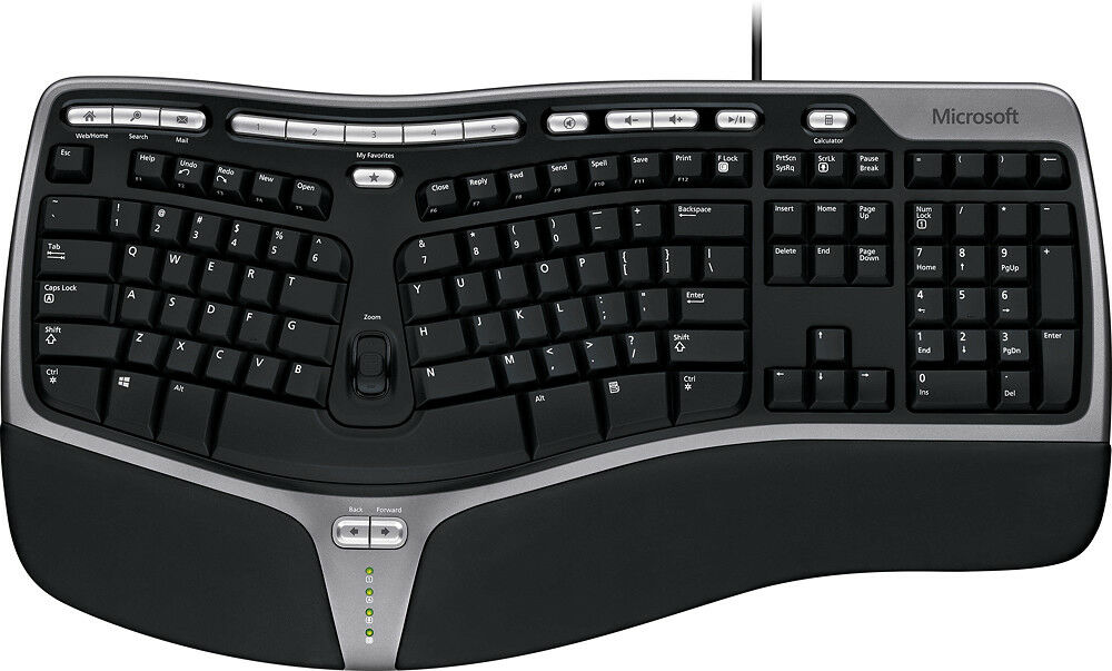 Microsoft – Natural Ergonomic Keyboard 4000 – Black