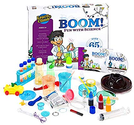 Learn & Climb Kids Science Kit – Over 60 Experiments, Fun with Science!