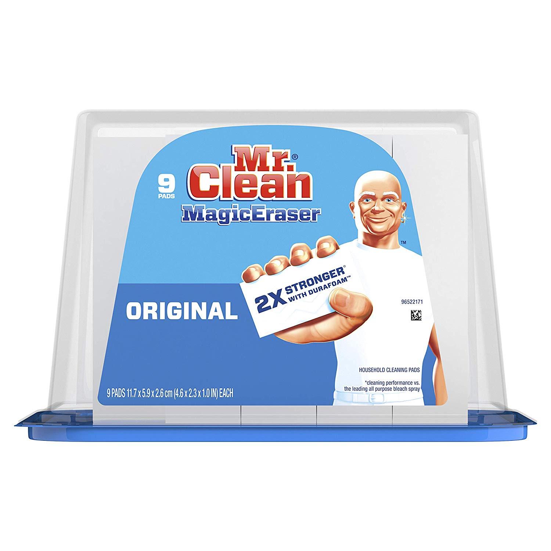 9-Count Mr. Clean Magic Eraser Original Cleaning Pad with Durafoam S&S