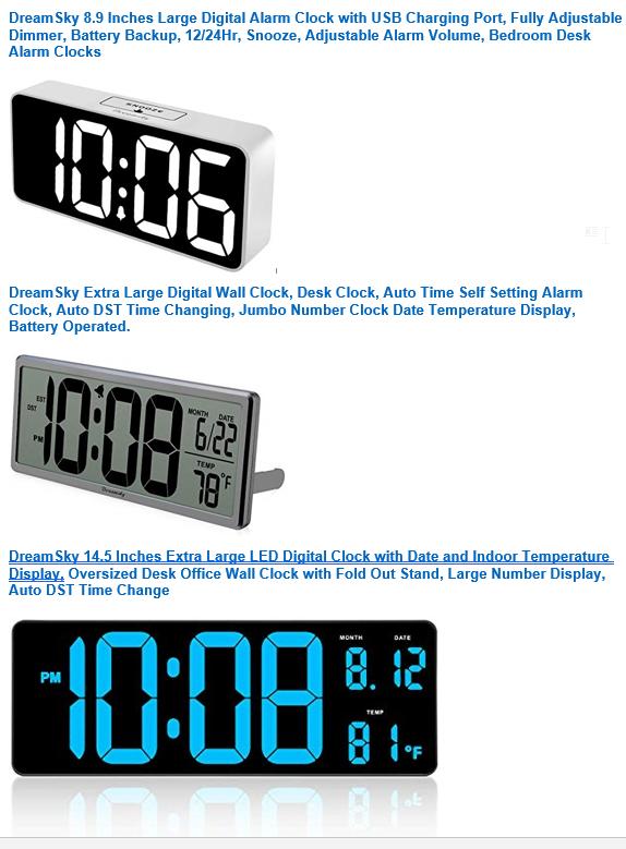 Save on DreamSky Alarm Clock $11.99 – $39.99