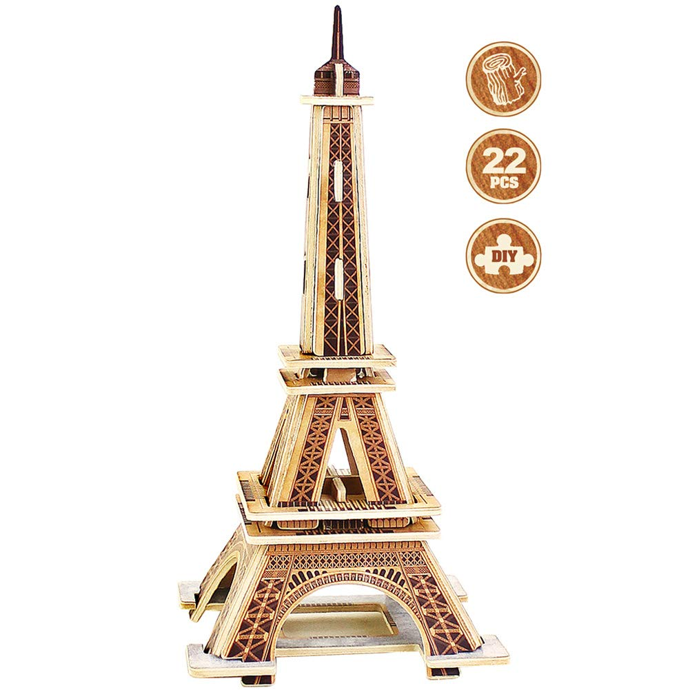 ROBUD 3D Puzzle for Kids Eiffel Tower Model