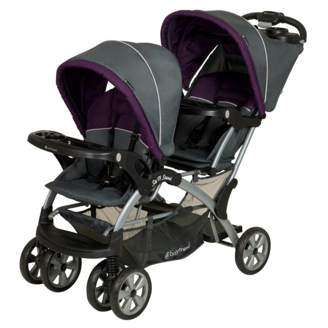 Lightning Deal – Baby Trend Sit N Stand Double Stroller, Elixer for $128