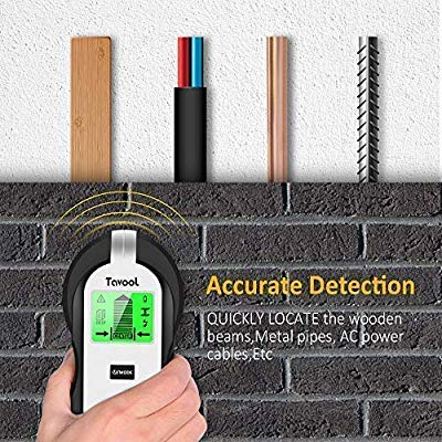 Stud Finder Sensor Wall Scanner – 4 in 1 Electronic Stud Sensor Beam Finders Wall Detector Center Finding with LCD Display for Wood AC Wire Metal Studs Joist Detection