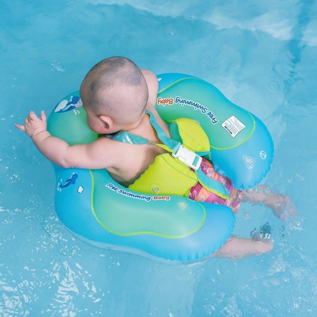 Lightning Deal – Free Swimming Baby Inflatable Baby Swimming Float Ring Children Waist Float Ring Inflatable Floats Pool Toys Swimming Pool Accessories for The Age of 3-36 Months(Blue, L) for $13.3