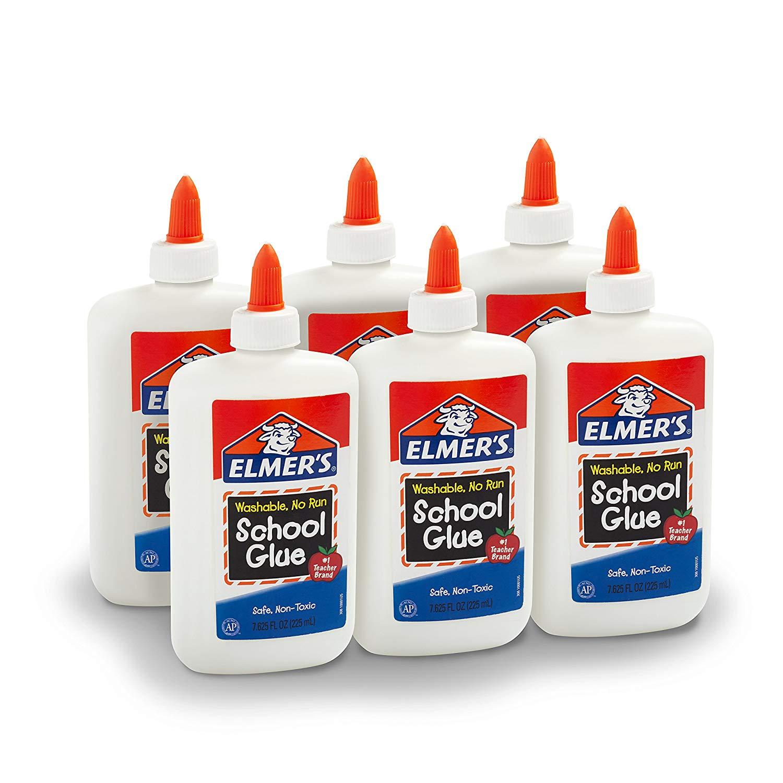 Elmer's Liquid School Glue, Washable, 7.625 Ounces, 6 Count