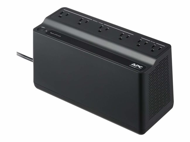 Deal of the Day – APC UPS Battery Backup & Surge Protector, 425VA, APC Back-UPS (BE425M) for $31.04