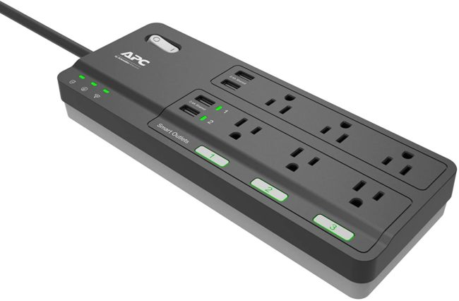 APC 6-Outlet Smart Surge Protector with 4 USB Charging Ports (Black)