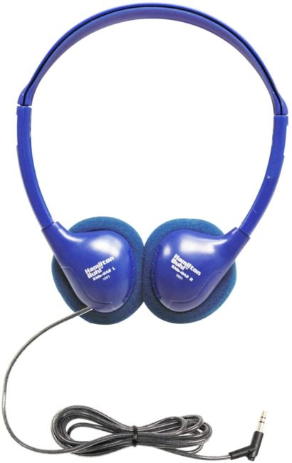 HamiltonBuhl Kids-HA2 Kids Personal Stereo/Mono Headphones for Education (Blue)